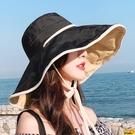 漁夫帽 今年流行的帽子2021年爆款女魚夫女帽漁夫太陽帽遮陽防曬洋氣時尚 印巷家居