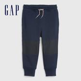 Gap男幼童 簡約風格純色鬆緊長褲 618338-海軍藍