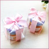 幸福朵朵【甜蜜蜜「透明盒裝」瑞士進口hero蜂蜜小禮盒(粉色緞帶)】送客禮贈品/婚禮小物