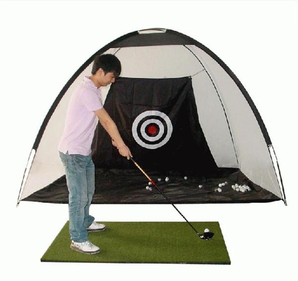 室內高爾夫練習網套裝打擊墊擊球籠GOLF訓練器【步行者戶外生活館】
