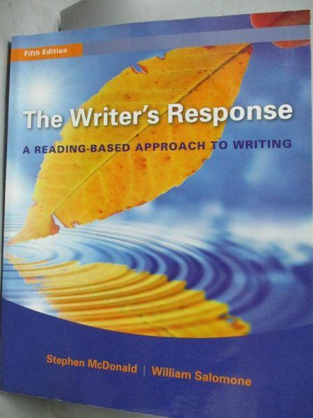 【書寶二手書T2/原文書_ZHX】The Writer's Response: A Reading-based Appr