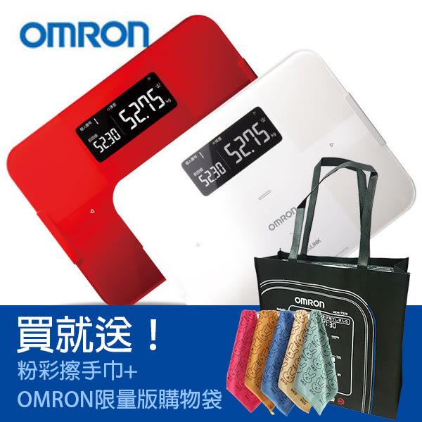 OMRON HBF-254C歐姆龍體脂計(紅/白)限量加贈★OMRON限量購物袋+擦手巾★ **朵蕓健康小舖**