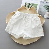 女童短褲白色外穿百搭中大童2021新款洋氣韓版潮兒童薄款牛仔熱褲 雙十同慶 限時下殺