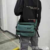尼龍包男士工裝斜背包防水尼龍布後背包學生休閒書包大容量郵差包潮 伊蒂斯
