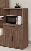 【森可家居】諾艾爾2尺收納櫃 8CM906-3 餐櫃 廚房櫃 碗盤碟櫃 木紋質感 北歐工業風