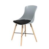 組 - 特力屋萊特 塑鋼椅 櫸木腳架30mm/灰椅背/黑座墊