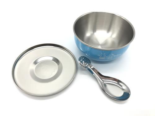 【好市吉居家生活】寶石牌 Y-205SS 香醇不銹鋼兒童隔熱碗(附湯匙&不銹鋼蓋) 餐碗 防滑碗