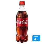 可口可樂寶特瓶600ml*4入【愛買】