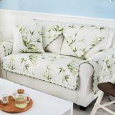 田園風沙發墊布藝韓式清新老式皮沙發坐墊小清新碎花四季通用罩子