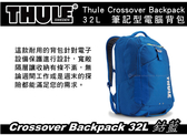 ||MyRack|| Thule Crossover Backpack 32L-鈷藍色 旅行袋 行李袋 背包 手提袋