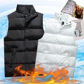 羽絨背心  秋冬季羽絨棉馬甲韓版潮修身情侶馬夾立領外套