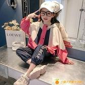 女童春裝外套網紅洋氣新款時尚韓版兒童中大童春秋時髦風衣潮【小橘子】