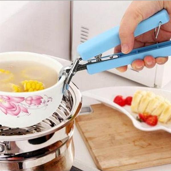 不鏽鋼防燙碗夾 彈簧取碗器夾碗器【庫奇小舖】