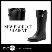 長筒雨鞋 雨靴 防滑  歐美時尚質感柔軟搭扣防水膠鞋 mo.oh (歐美鞋款)