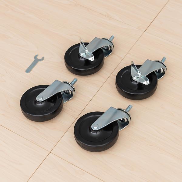 收納架/推車輪/層架專用配件輪【配件類】100mm 黑色工業輪  二活二煞輪  dayneeds
