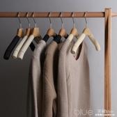 實木衣架防滑家用無痕防肩角多功能衣櫃收納掛鉤木衣架 深藏blue