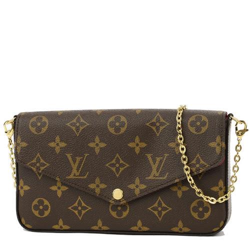 Louis Vuitton LV M61276 Pochette Félicie Monogram 帆布(經典花紋)鍊條斜背小提包 全新 預購
