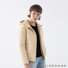【GIORDANO】女裝素色鋪棉連帽外套 - 15 杏仁白