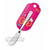 〔小禮堂〕Hello Kitty 日製不鏽鋼奶油刀《銀.大臉》可愛又實用  4991203-16863