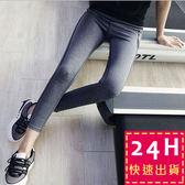 梨卡★現貨 - 瑜珈排汗快乾超顯瘦 - 韓版女慢跑緊身加大尺碼健身條紋長褲運動褲壓力褲彈力褲D320