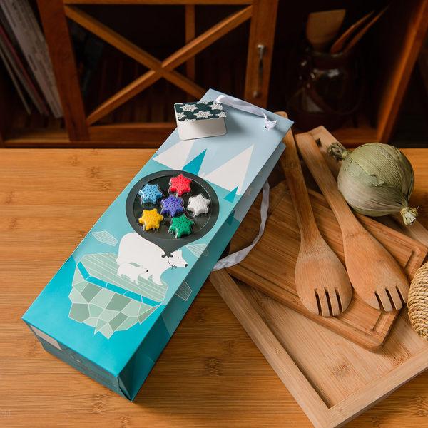 Gift concept北極熊禮盒提袋(酒杯標誌)-生活工場