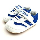 《7+1童鞋》寶寶段 軟底 透氣 魔鬼氈 休閒 包鞋 學步鞋 D592 藍色