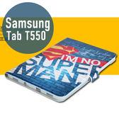 三星 SAMSUNG Tab A (9.7吋) T550 彩繪卡通 側翻皮套 支架 平板套 平板皮套 皮套 平板殼