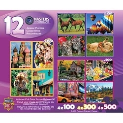 【KANGA GAMES】拼圖 攝影大師12款拼圖豪華組 Masters of Photography 12 Puzzle Deluxe Set