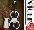 【小麥老師樂器館】買1送10►► 白色 4/4 靜音小提琴【V3】電子小提琴 小提琴 提琴 大提琴 中提琴