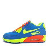Nike Air Max 90 BG [307793-410] 大童鞋 運動 休閒 透氣 舒適 藍 螢黃