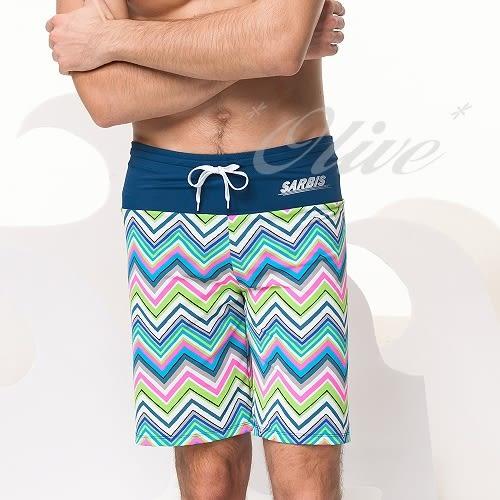 ☆小薇的店☆沙兒斯新款【率性曲線條紋】大男海灘泳褲特價690元NO.B55609(M-3L)