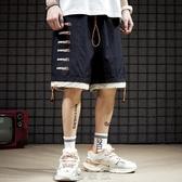 【快速出貨】 夏季假兩件休閒短褲男ins潮流速干運動籃球褲寬鬆直筒五分沙灘褲 現貨快出