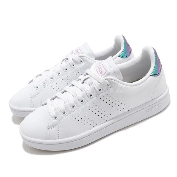adidas 休閒鞋 Advantage 白 紫 金屬反光 女鞋 小白鞋 愛迪達 Neo【ACS】 FY8955
