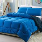 六星級 立體羽絲絨雙人暖被 加贈枕套2入(藍)/RODERLY
