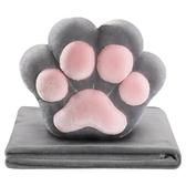 原創貓爪抱枕被子兩用辦公室午睡毯子靠墊汽車多功能個性可愛被