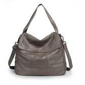 真皮手提包-牛皮大容量簡約翻蓋女側背包3色73wt4【巴黎精品】