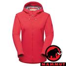 【MAMMUT 長毛象】Sapuen女防風軟殼連帽外套『日落紅』1011-01060 露營 登山 外套 羽絨 保暖 禦寒