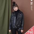 VOL946  個性款騎士風  帥氣百搭外套  黑色俐落有型