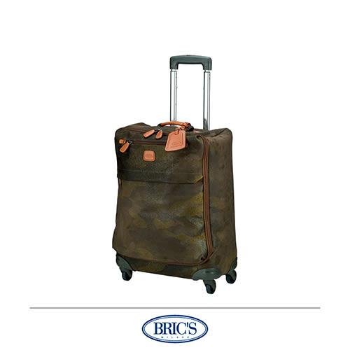 BRICS 義大利製造 迷彩拉桿箱 擬皮革 20吋 登機箱 行李箱旅行箱 -美冠皮件
