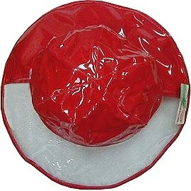 【波克貓哈日網】兒童雨帽 ◇寬緣透明安全設計◇《紅色》56cm~~參考產品特色