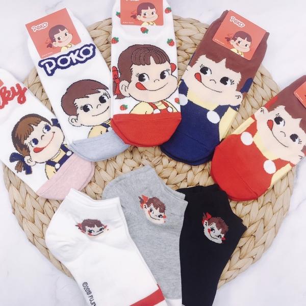 【FUJIYA 不二家】牛奶妹 POKO PEKO 短襪 船型襪 帆船襪 韓國襪子