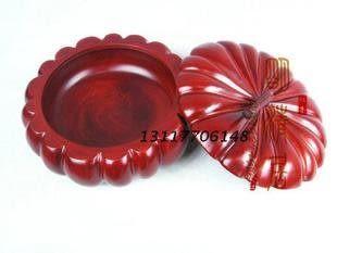 紅木工藝品  南瓜煙灰缸 16CM