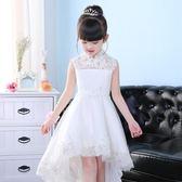 兒童禮服裙公主裙小花童女童婚紗裙蓬蓬裙鋼琴演出服晚禮服白色 童趣潮品