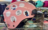 Hello Kitty安全帽,雪帽,K825,麗莎與卡斯柏 X  hello kitty聯名款/粉,附抗UV-PC安全鏡片