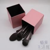 化妝刷桶 皮質桶美妝刷收納筒桶磁吸式收納桶防塵【極簡生活】