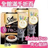 【小福部屋】【12.雞肉海鮮 橘色(幼貓) 10包/盒】日本 SHEBA DUO 夾心餡餅 貓咪 餅乾 貓食