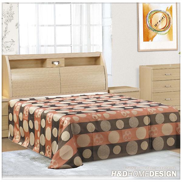 柏森白橡色雙人加大6尺床組/床頭+床底  (21SP/554-3+554-4)