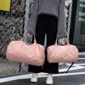 健身包女 單肩訓練包運動瑜伽包韓版短途行李包大容量斜背旅行袋igo 衣櫥の秘密