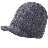 羊毛毛帽-純色麻花針織毛線男鴨舌帽4色73wj29[時尚巴黎]
