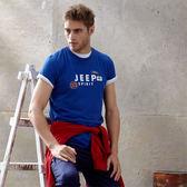 【JEEP】網路限定 吸濕排汗創意T恤-海軍藍